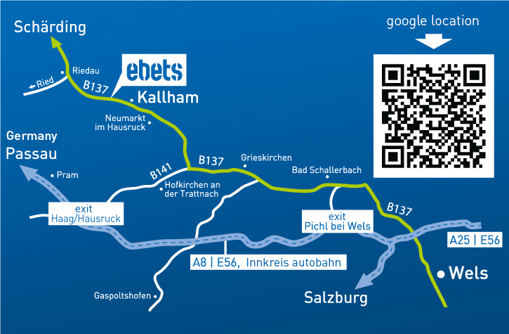 Directions to ebets - Austria